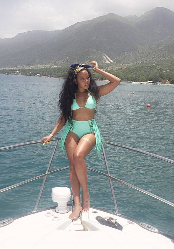 Angela Simmons Vacations At Wahoo Beach Resort In Haiti