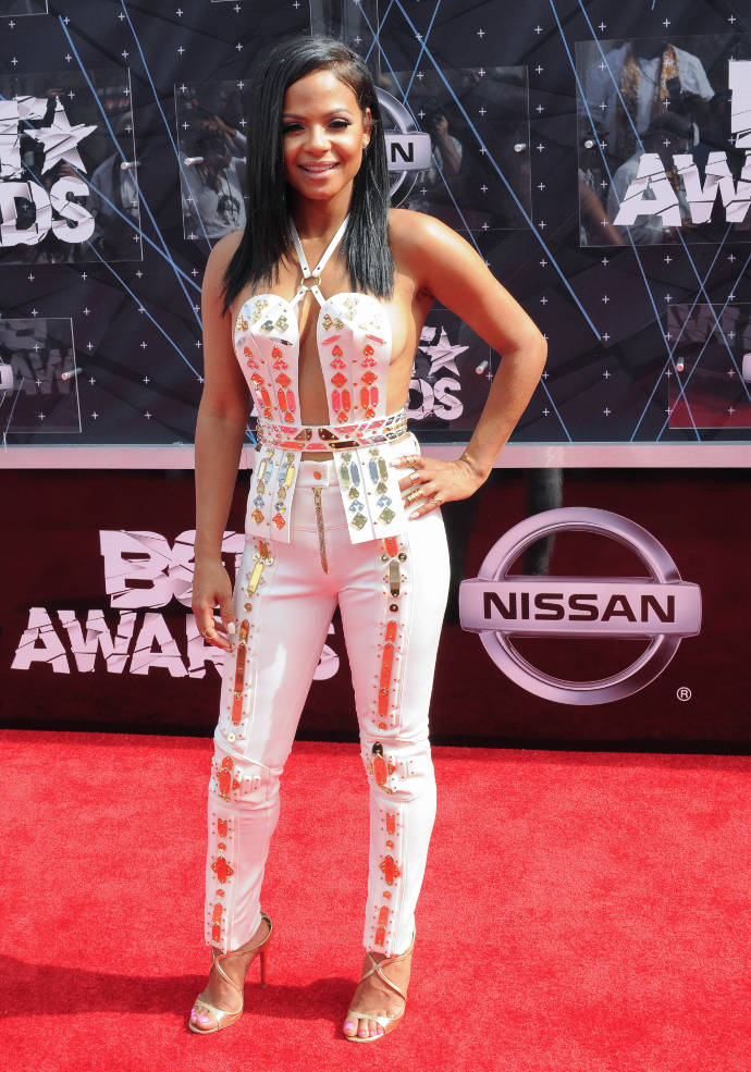 Get The Look: BET Awards Christina Milian's Mirrored Jumpsuit