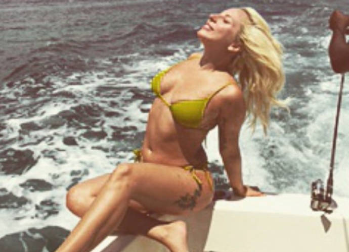 Lady Gaga Shows Off Her Curves In Tiny Green Bikini In Bahamas
