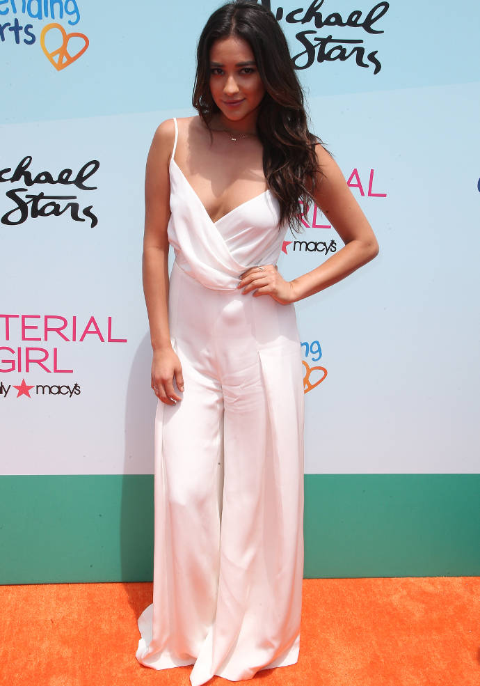 Get The Look: Shay Mitchell's Stylish White Jumpsuit