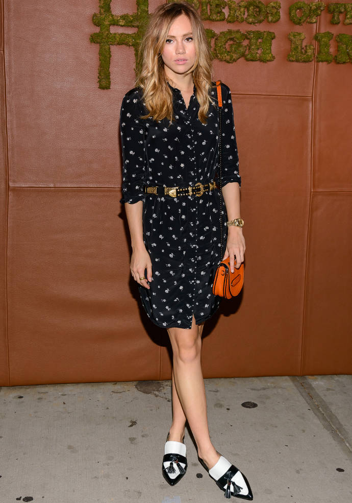 Get The Look: Suki Waterhouse's Wears All Coach To Friends Of The High Line Party