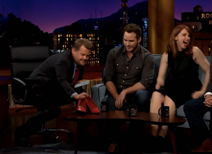 Chris Pratt Runs In Heels On 'The Late Late Show With James Corden'