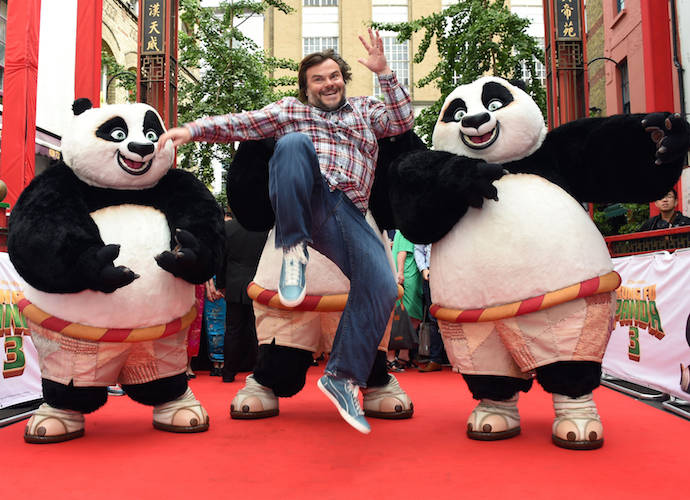 Jack Black Delivers A High Kick At 'Kung Fu Panda 3' Phtotocall