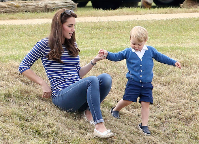 Kate Middleton Plays With Prince George At Gigaset Charity Polo Match