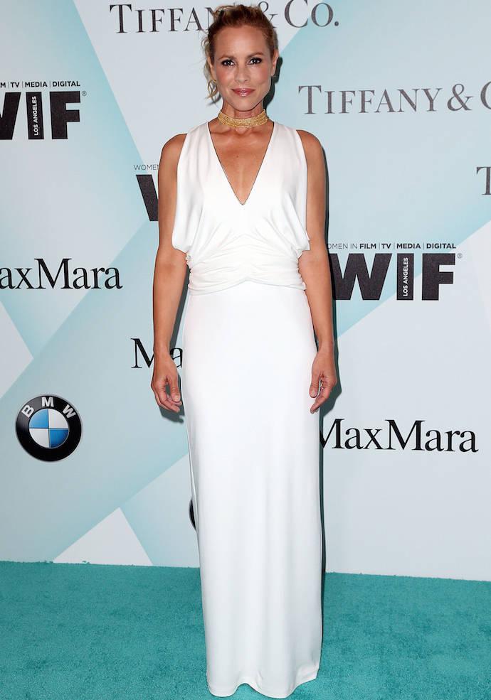 Maria Bello Wears White to Women In Film Event