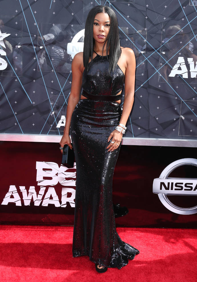 Get The Look: BET Awards Gabrielle Union's Sultry Look In Cut Out Black Dress