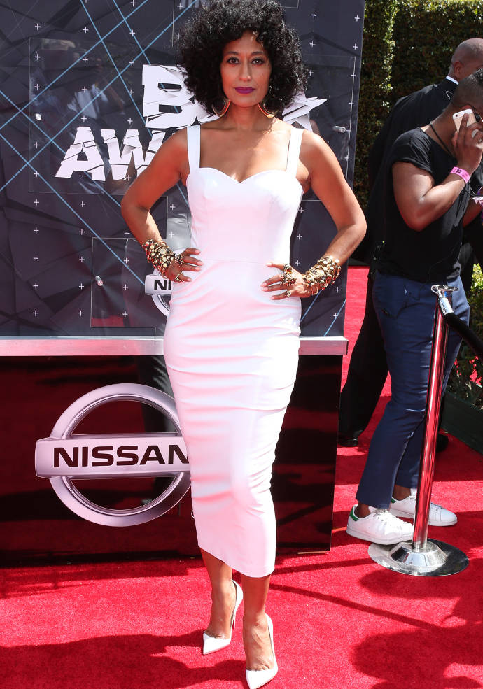 Get The Look: BET Awards 2015 Tracee Ellis Ross' Form Fitting White Dress