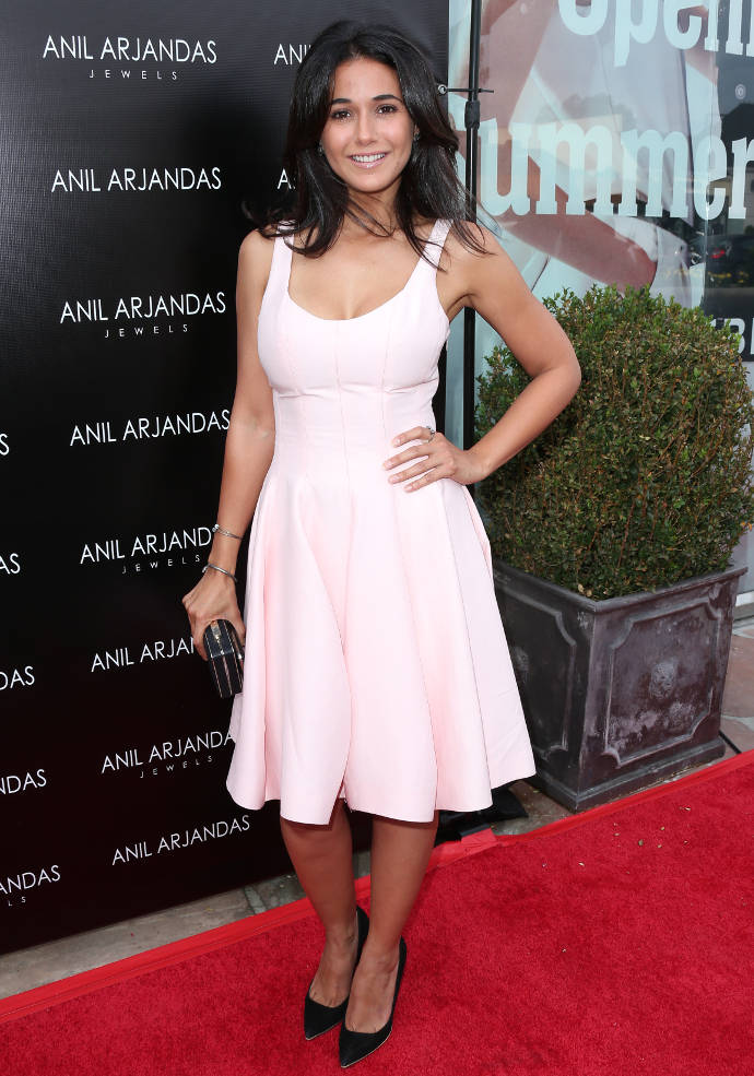Get The Look: Emmanuelle Chriqui Is Pretty In Pink Sundress