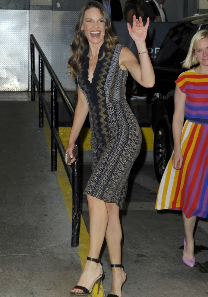 Get The Look: Hillary Swank's Embroidered Dress