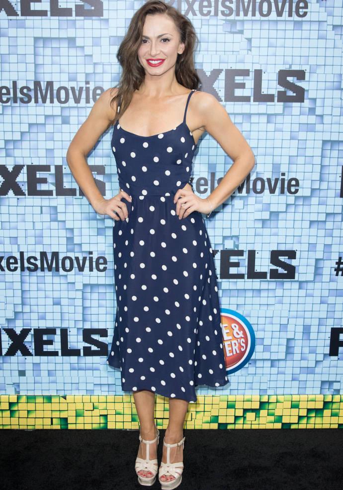 Get The Look For Less: Karina Smirnoff's Cute Polka Dot Dress