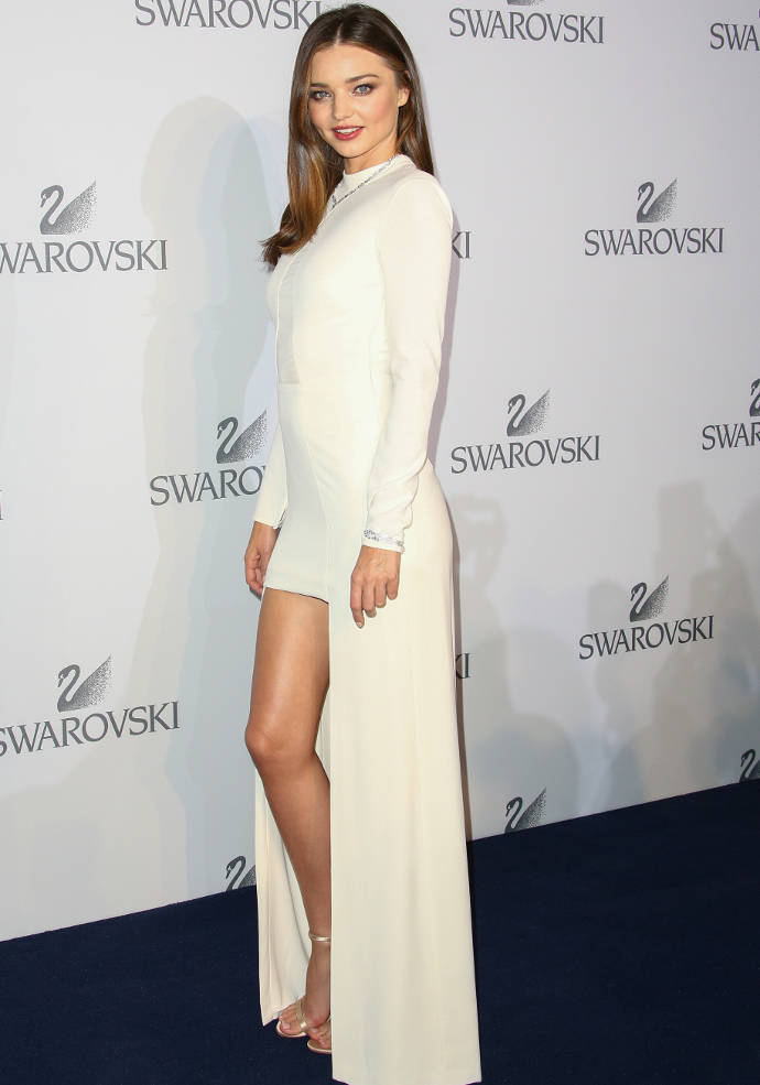 Get The Look: Miranda Kerr's Glamorous Mini Dress With Train