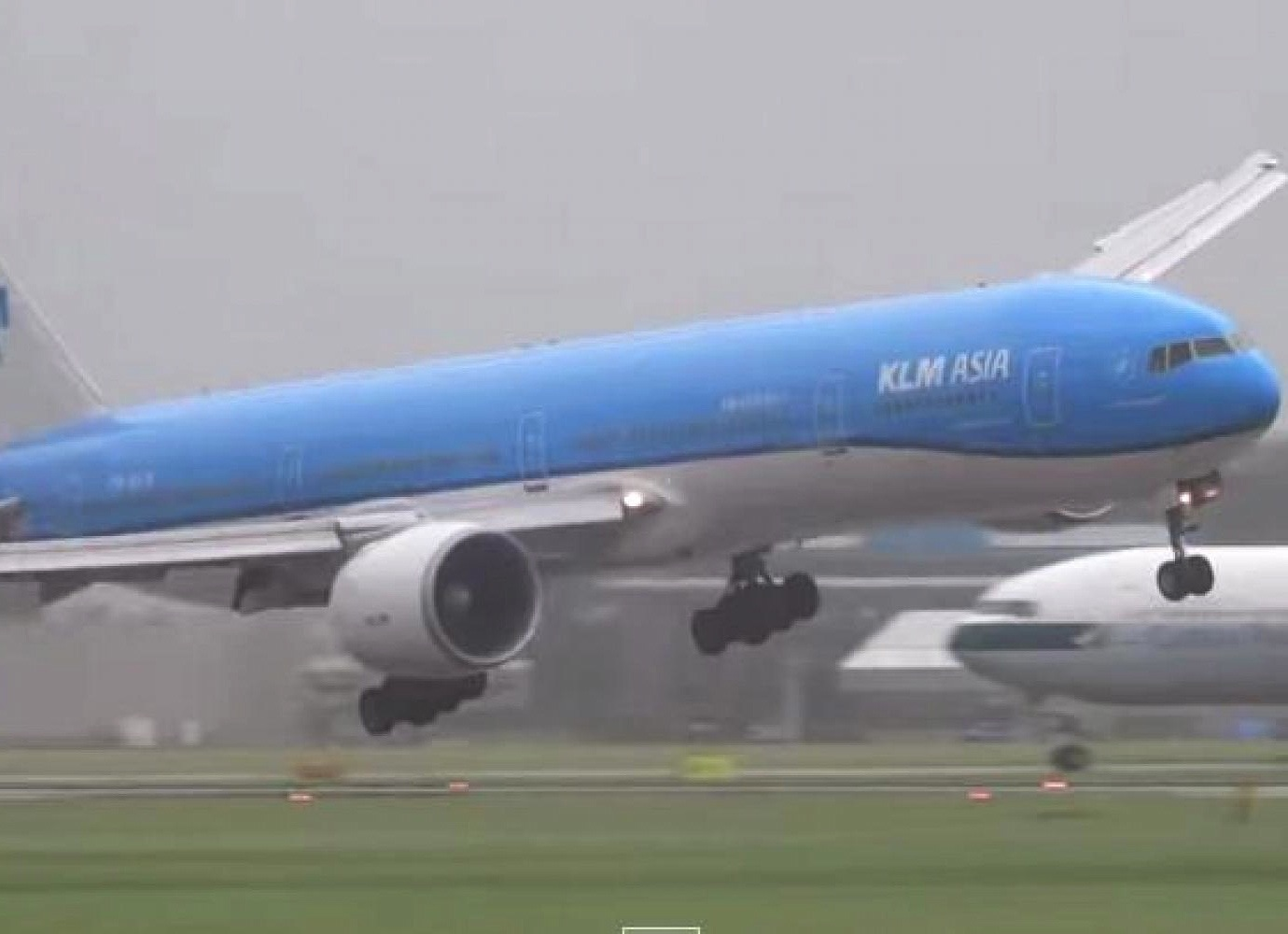KLM Plane Has Scary Landing At Amsterdam Airport In Viral Video