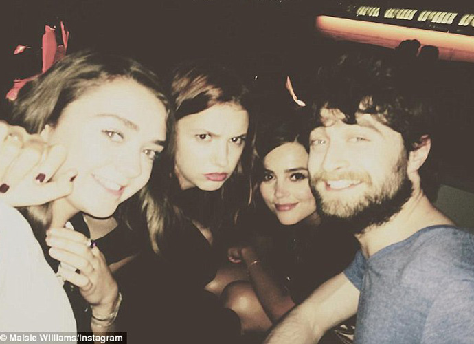 Maisie Williams Take Magical Selfie With Daniel Radcliffe, Hannah Murray & Jenna Coleman
