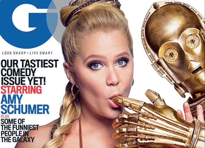 Amy Schumer Gets Intimate With C-3PO On The Cover Of 'GQ'