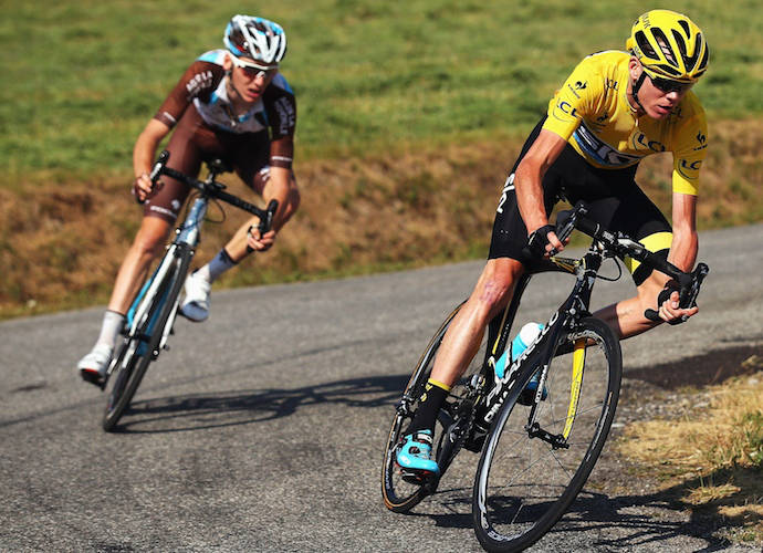 """Fan Throws Urine On Chris Froome On The Tour De France, Yelling """"Doper"""" At Him"""