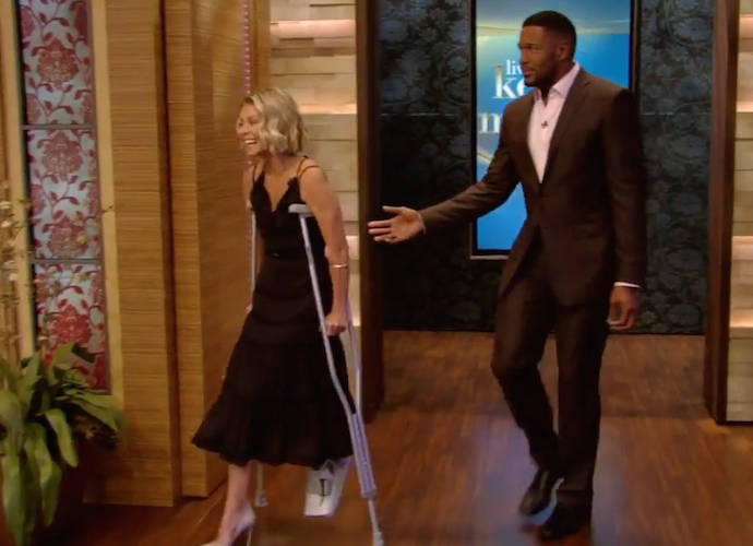 Kelly Ripa Breaks Her Foot, Recounts Injury On 'Live With Kelly And Michael'