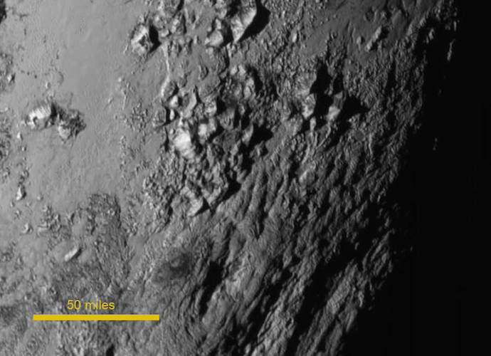 Pluto Pictures: NASA Releases Close-Up Of Dwarf Planet's Mountains