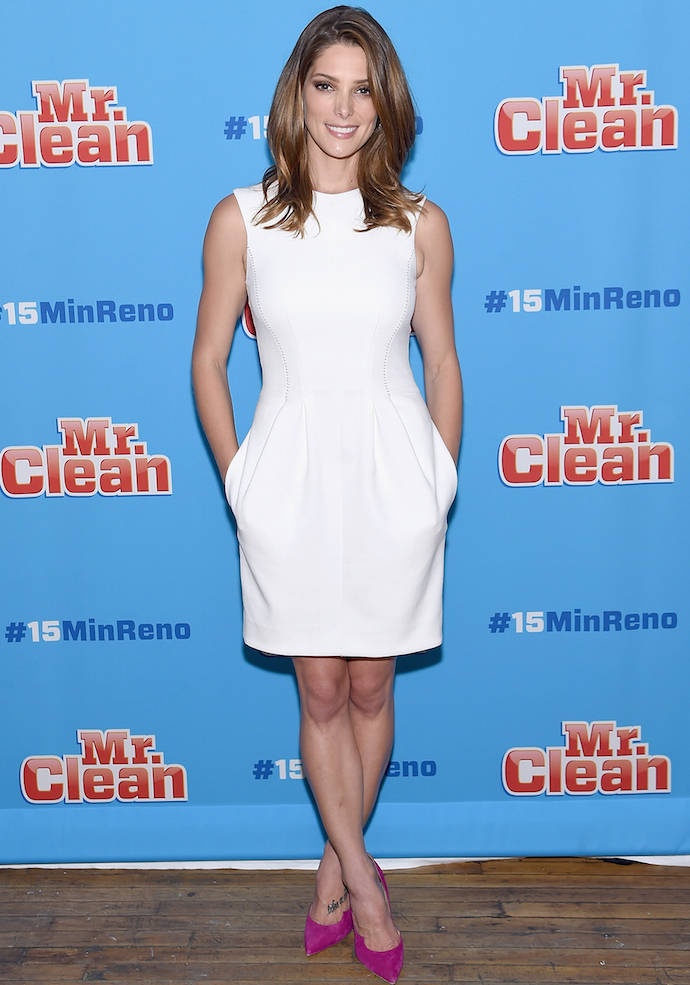 Ashley Greene Dons A LWD To Mr. Clean Event