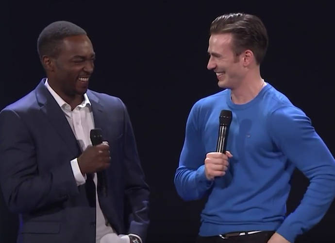 Anthony Mackie And Chris Evans Debut New 'Captain America: Civil War' Footage At Disney's D23 Expo