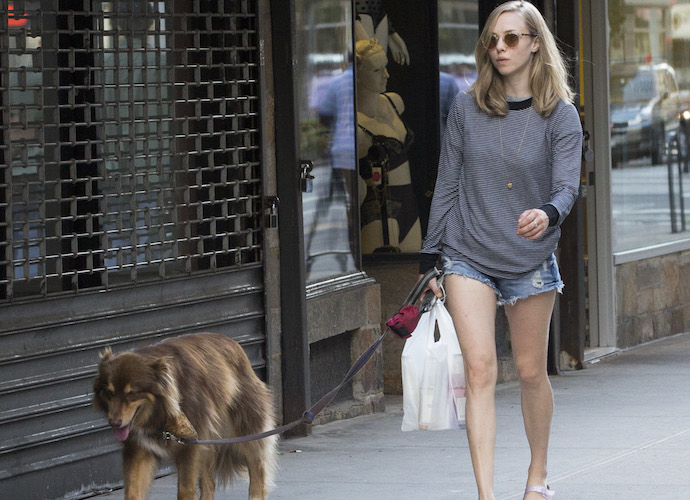 Amanda Seyfried Walks Dog Finn In NYC UInterview