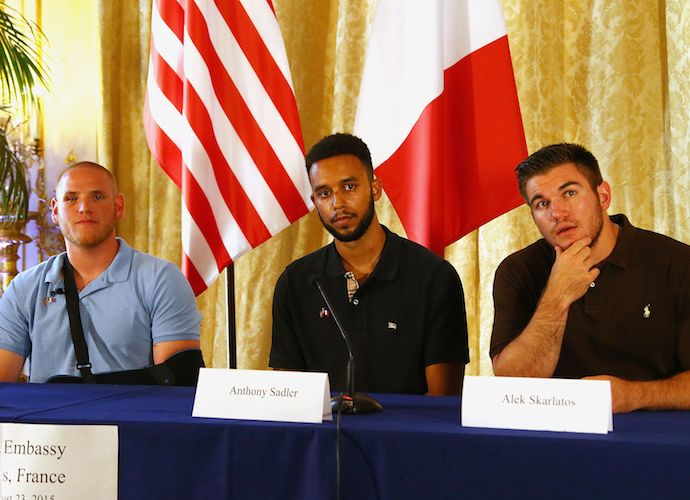 Americans Anthony Sadler, Spencer Stone And Alek Skarlatos Thwart France Train Attack, Receive France's Legion Of Honor