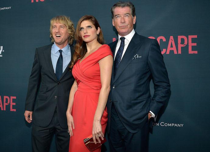 Owen Wilson, Lake Bell & Pierce Brosnan Attend 'No Escape' Premiere