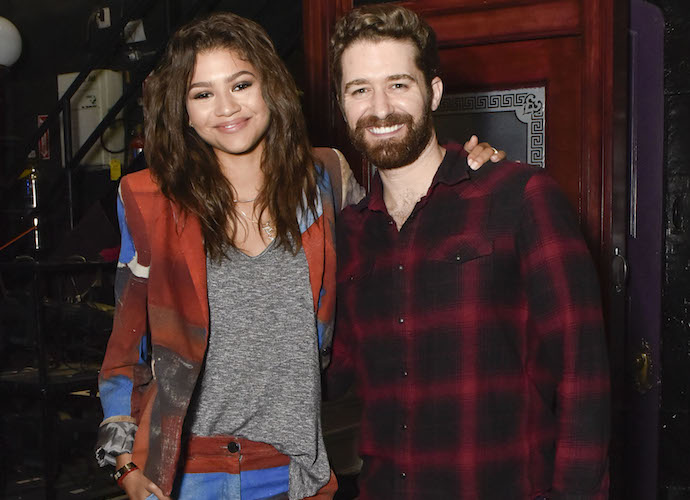 Zendaya Coleman Posed With Matthew Morrison Backstage At 'Finding Neverland'