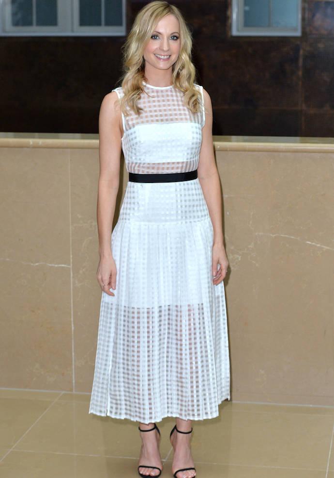 Joanne Froggatt's Sheer Dress Stood Out At 'Downton Abbey' Press Launch