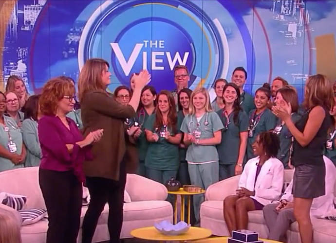 Joy Behar And Michelle Collins Welcome Nurses On 'The View' Following Fallout From Miss America Comments