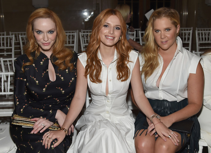Christina Hendricks, Bella Thorne & Amy Schumer Sit Front Row For Zac Posen Show At NYFW