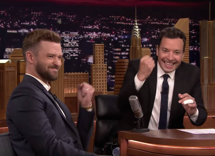 Justin Timberlake Joins Jimmy Fallon For 'History Of Rap,' Shares Picture Of Son Silas On 'Tonight Show'