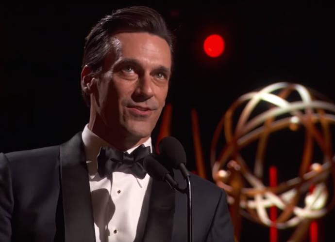 'Mad Men's Jon Hamm Crawls Onstage To Accept Emmy, Thanks Ex-Girlfriend Jennifer Westfeldt