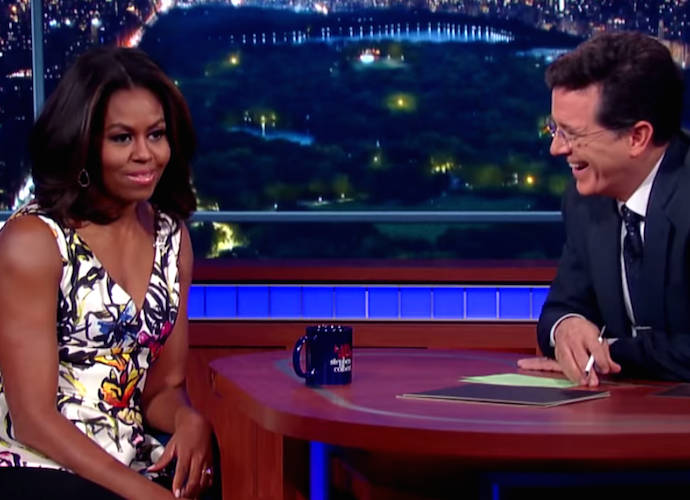 First Lady Michelle Obama Talks Post White House Plans On 'The Late Show'
