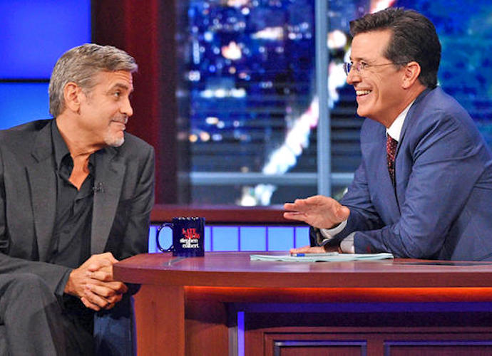 Stephen Colbert Makes 'Late Show' Debut, Chats With George Clooney & Jeb Bush
