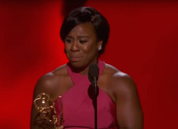 Uzo Aduba Cries Accepting Emmy Award For 'Orange Is The New Black' Role