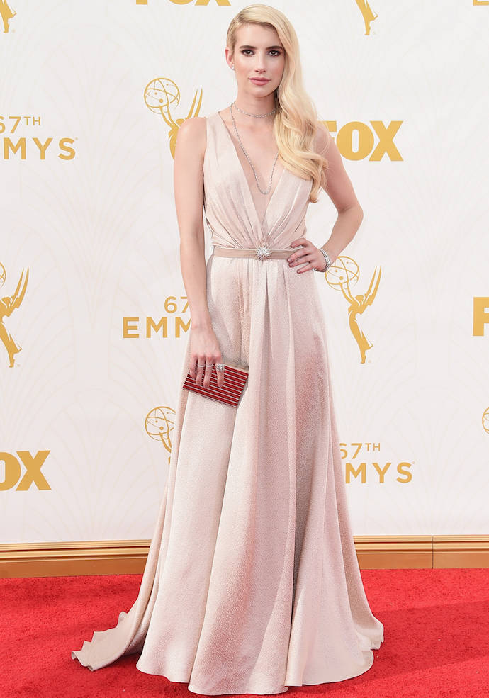 LOS ANGELES, CA - SEPTEMBER 20:  Actress Emma Roberts attends the 67th Annual Primetime Emmy Awards at Microsoft Theater on September 20, 2015 in Los Angeles, California.  (Photo by Jason Merritt/Getty Images)