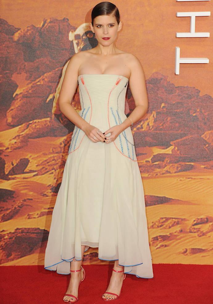 Kate Mara Wears Christian Dior To 'Martian's London Premiere