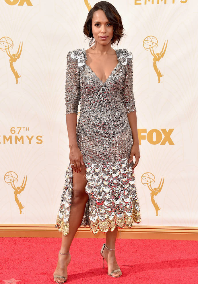 LOS ANGELES, CA - SEPTEMBER 20:  Actress Kerry Washington attends the 67th Emmy Awards at Microsoft Theater on September 20, 2015 in Los Angeles, California. 25720_001  (Photo by Alberto E. Rodriguez/Getty Images for TNT LA)