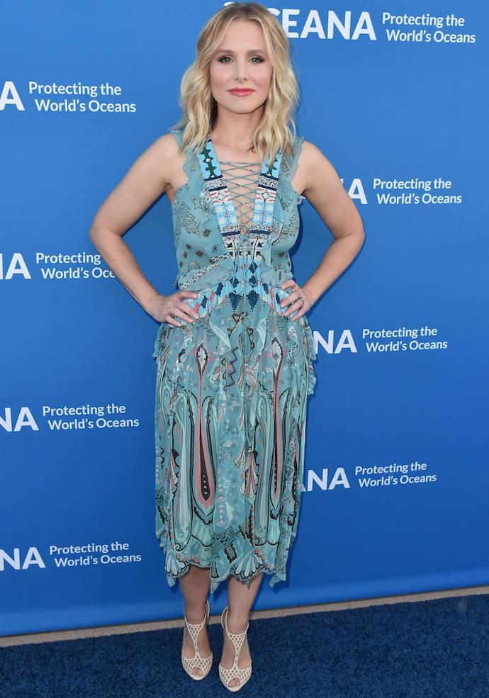 Kristen Bell Dons Etro For Oceana Benefit