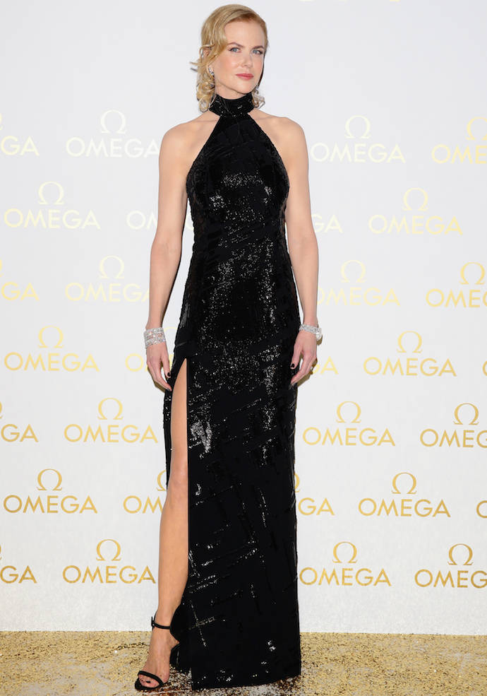Nicole Kidman Looks Glam In Black At OMEGA Gala
