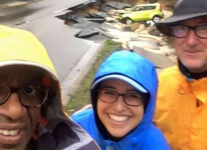 Al Roker Takes Smiling Selfie On Flooded South Carolina Street, Apologizes For 'Insensitive' Pic