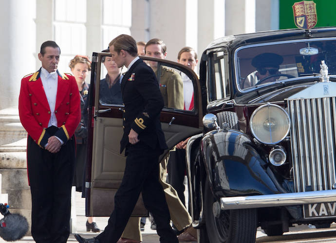 Matt Smith Is Prince Philip On The Set Of 'The Crown'
