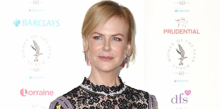 Nicole Kidman Wears Victoria-Inspired Frock To Women Of The Year Lunch