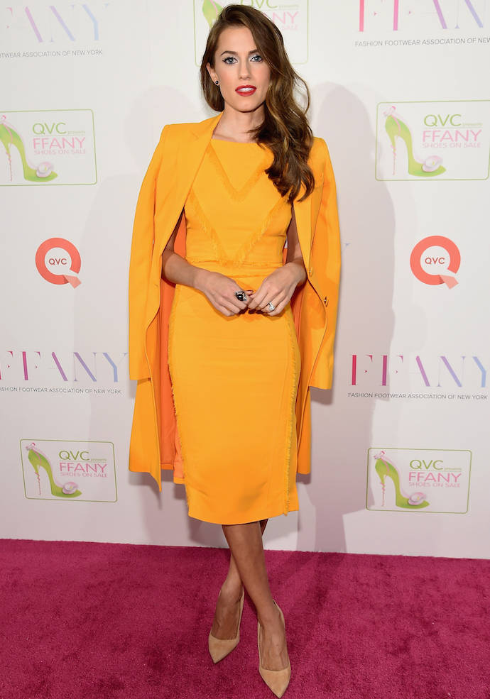 Allison Williams Stands Out In Mustard Yellow Dress At FFANY Gala