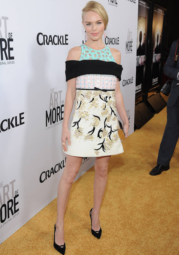 Kate Bosworth Wears Mixed Media Dress To 'The Art Of More' Premiere