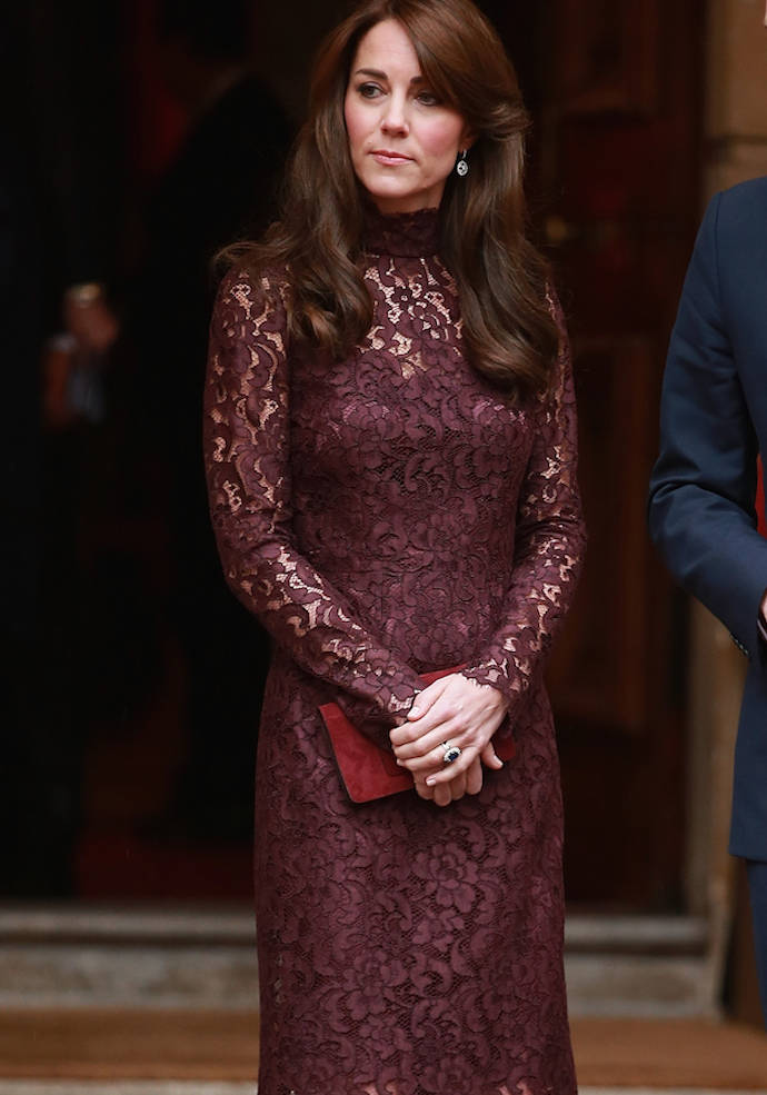 Kate Middleton Wears Plum Lace For Event With Chinese President And Jackie Chan Uinterview