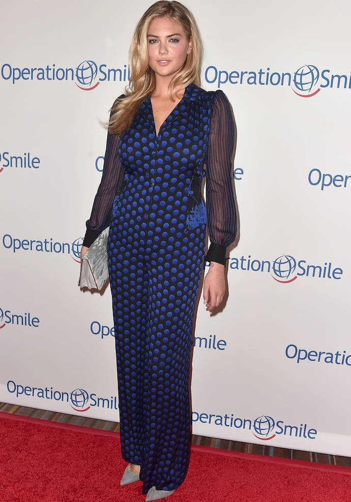 Kate Upton Sported A Diane von Furstenberg Jumpsuit To Operation Smile Event