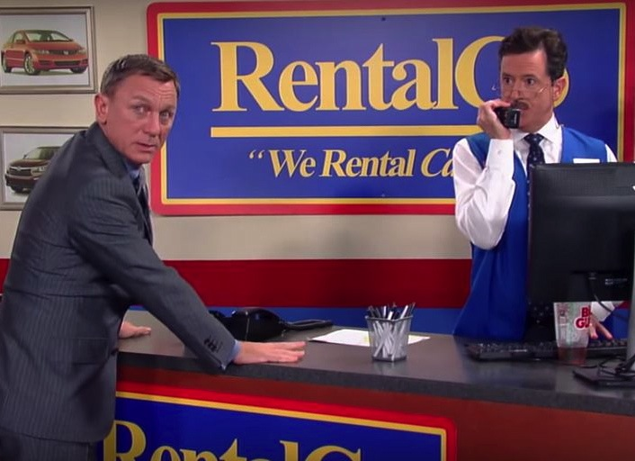 Daniel Craig and Stephen Colbert Reveal Hilarious Fake Scene From 'Spectre' on 'The Late Show'