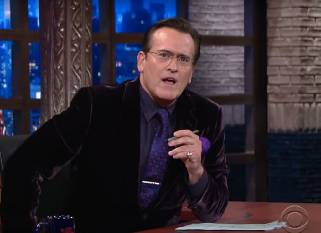 Bruce Campbell Nails Stephen Colbert Impression On 'The Late Show'