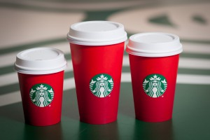 Starbucks New Plain Red Holiday Cups